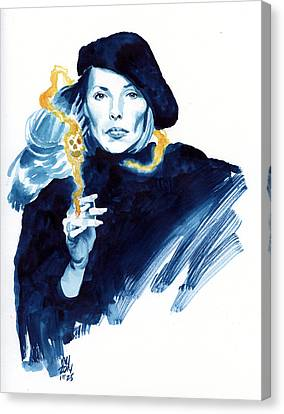 inktober 25 Joni's folly Canvas Print by Ken Meyer jr
