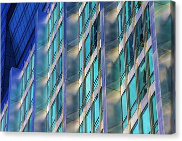 Inland Steel Building Canvas Print by Raymond Kunst