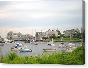 Canvas Print featuring the photograph Inlet At Harwich Cape Cod Maine by Suzanne Powers