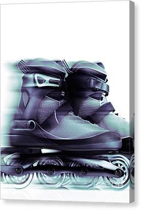 Rollerskate Canvas Print - Inline Skates Rollerblades Artistic Dynamic Still Ife by Oleksiy Maksymenko