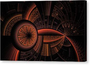 Canvas Print featuring the digital art Inner Core by GJ Blackman