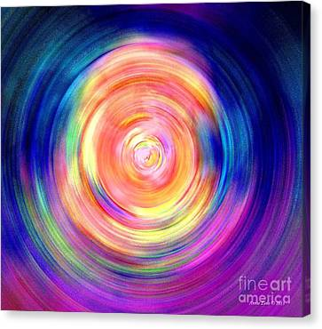 Inner Glow Abstract Art Canvas Print