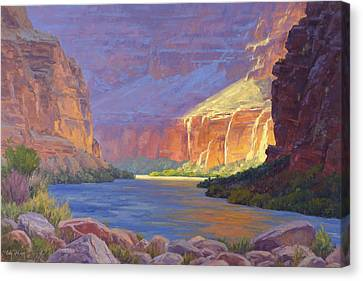 Inner Glow Of The Canyon Canvas Print by Cody DeLong