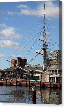 Inner Harbor At Baltimore Md - 12128 Canvas Print by DC Photographer