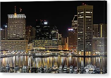 Inner Harbor - Baltimore Maryland Canvas Print by Brendan Reals