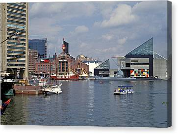 Inner Harbor Baltimore Md Canvas Print by Gail Maloney