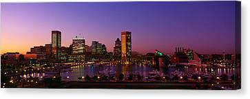 Inner Harbor, Baltimore, Sunset Canvas Print by Panoramic Images