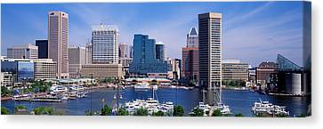 Inner Harbor Federal Hill Skyline Canvas Print by Panoramic Images