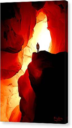Canvas Print featuring the digital art Inner Light by Matt Lindley