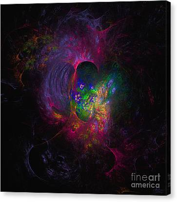 Canvas Print featuring the digital art Inner Psyche by Arlene Sundby