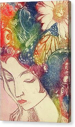 Inner Thoughts Canvas Print by Juliann Sweet