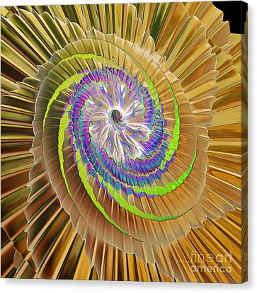 Generative Art Canvas Print - Inner Twister by Deborah Benoit