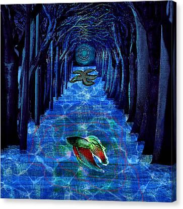 Inner Woods Canvas Print by Maria Jesus Hernandez