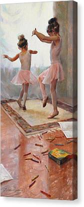Ballerinas Canvas Print - Innocence by Anna Rose Bain