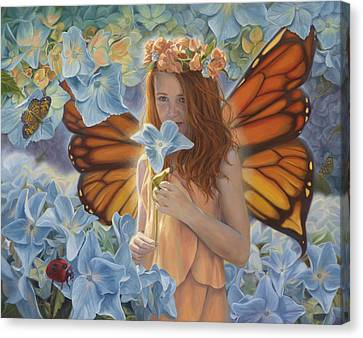 Innocence Canvas Print by Lucie Bilodeau