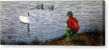 Innocent Curiosity Canvas Print
