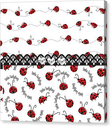 Innocent Ladybugs  Canvas Print