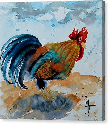 Innocent Rooster Canvas Print by Beverley Harper Tinsley