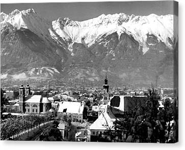 Innsbruck In Austria Canvas Print by Retro Images Archive