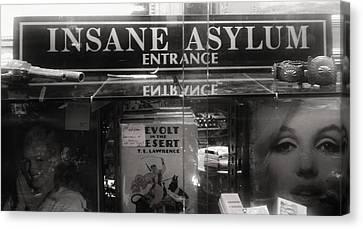 Insane Asylum Canvas Print by Sharon Costa