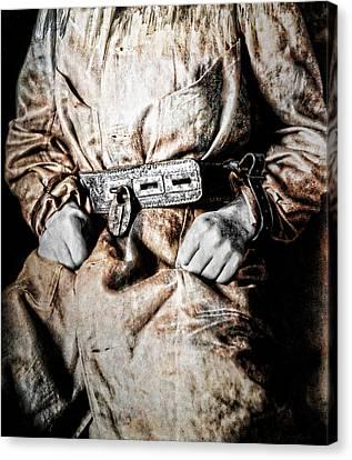 Insane Person In Restraints Canvas Print by Daniel Hagerman