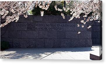 Inscription Of Fdrs New Deal Speech Canvas Print by Panoramic Images