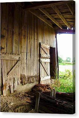 Inside An Indiana Barn Canvas Print