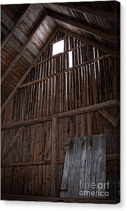 Inside An Old Barn Canvas Print by Edward Fielding