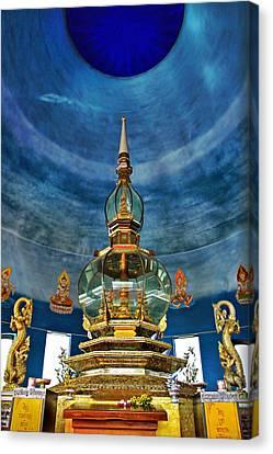 Inside Crystal Pagoda Canvas Print by Suradej Chuephanich