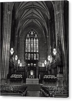 Inside Duke Chapel Canvas Print