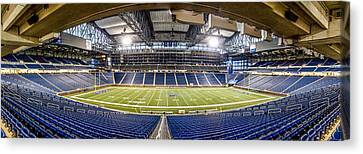 Inside Ford Field Canvas Print by John McGraw