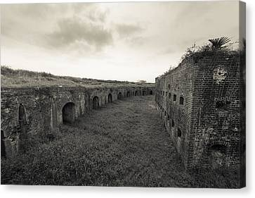 Inside Fort Macomb Canvas Print by David Morefield