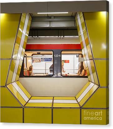Ubahn Canvas Print - Inside Jungfernstieg Subway Station by Jannis Werner