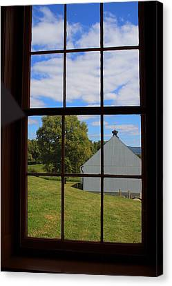 Canvas Print featuring the photograph Inside Looking Out by Debra Kaye McKrill