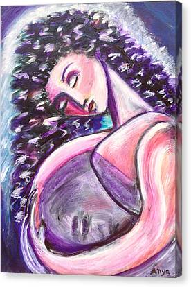 Canvas Print featuring the painting Inside Me by Anya Heller