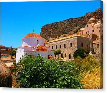 Inside Monemvasia Canvas Print by Constantinos Charalampopoulos