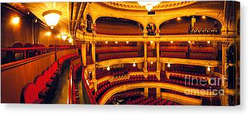 Canvas Print featuring the photograph Inside Of Old Theatre by Michael Edwards