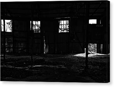 Inside Old Warehouse Canvas Print by Susan D Moody