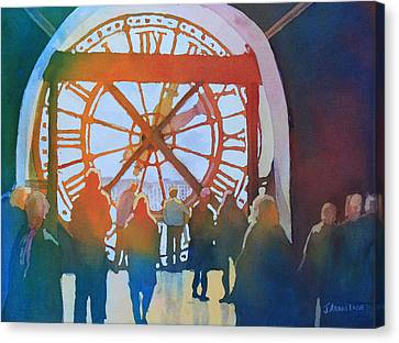 Inside Paris Time Canvas Print by Jenny Armitage