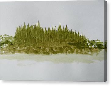 Inside Passage Islet Canvas Print