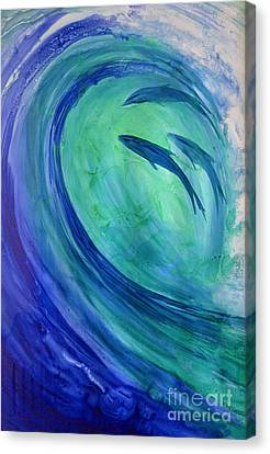 Inside The Curl Canvas Print by Joan Hartenstein