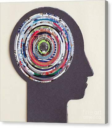 Inside The Human Head Canvas Print by Igor Kislev
