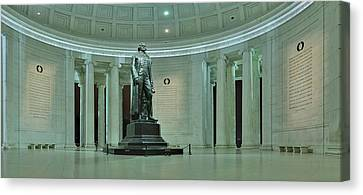 Inside The Jefferson Memorial Canvas Print by Metro DC Photography