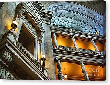 Inside The Natural History Museum  Canvas Print by John S