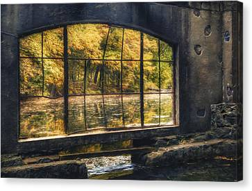 Inside The Old Spring House Canvas Print