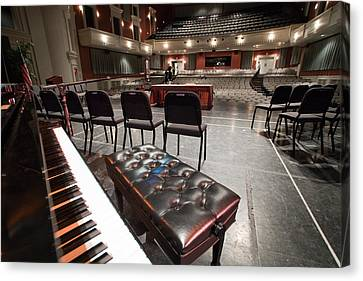 Canvas Print featuring the photograph Inside Theater by Alex Grichenko