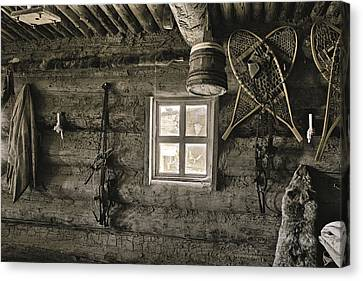 Canvas Print featuring the photograph Inside Trading Post Montrose Co by James Steele