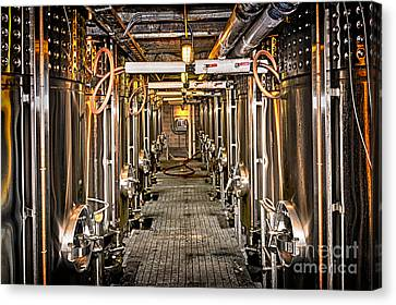 Fermentation Canvas Print - Inside Winery by Elena Elisseeva