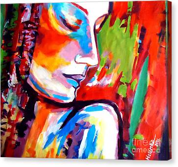 Canvas Print featuring the painting Insight by Helena Wierzbicki
