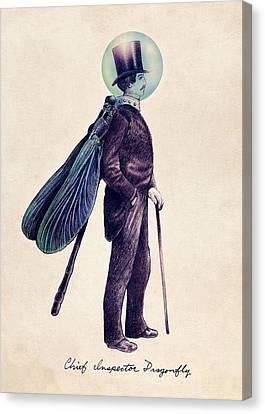 Inspector Dragonfly Canvas Print by Eric Fan